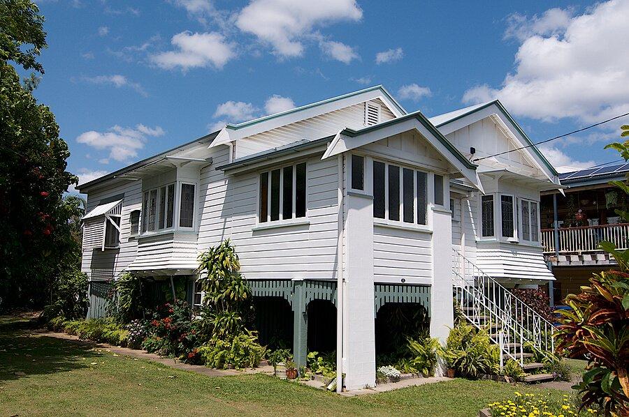 A typical old Queenslander's house in Brisbane